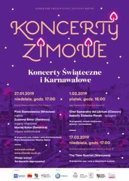 Plakat Koncerty Zimowe Świdnica