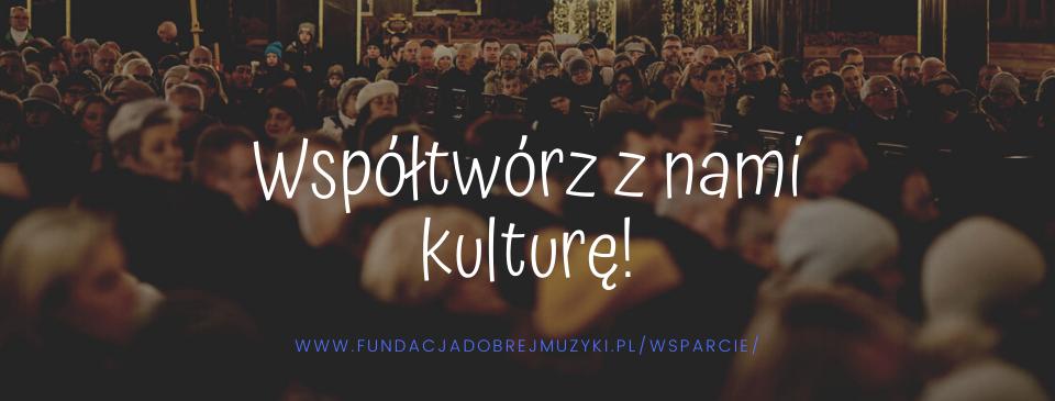 Zostań Mecenasem kultury! Wspieraj naszą Fundację!