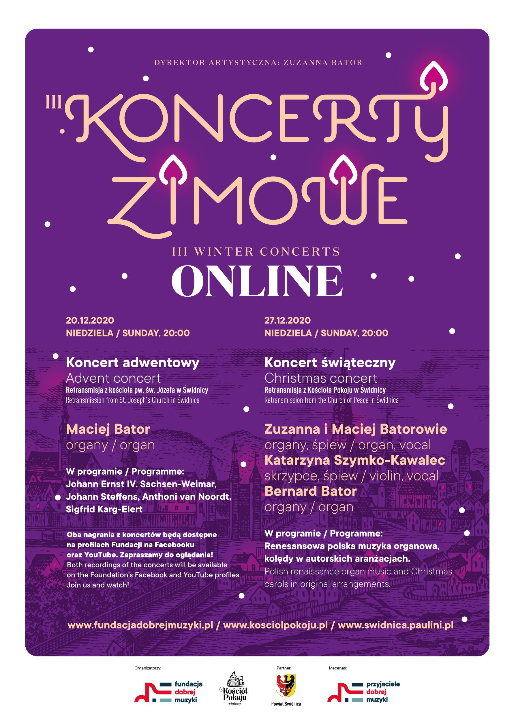 Plakat III Koncertów Zimowych 2020